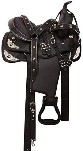 Synthetic Western Barrel Horse Saddle and Tack Set Seat Size 14-18