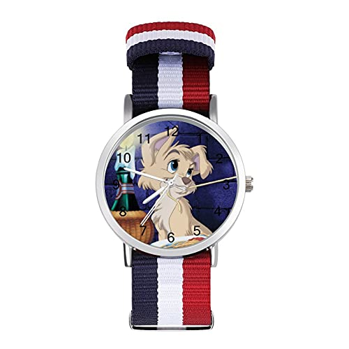 Los relojes Lady Tramp son impermeables, versátiles, informales, para estudiantes, hombres, mujeres, deportes, moda y temperamento simple anime dibujos animados