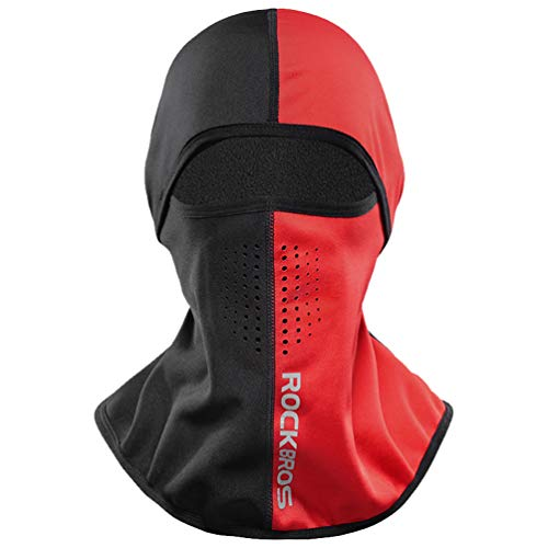 ROCK BROS Winter Cold Weather Balaclava for Men Women Thermal Cycling Skiing Snowboarding Motorcycle Red
