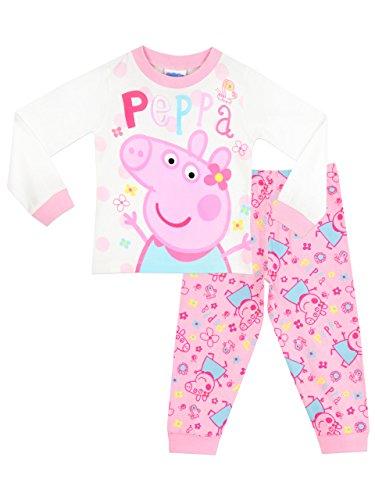 Peppa Pig- Pigiama a Maniche Lunghe per Ragazze 4-5 Anni