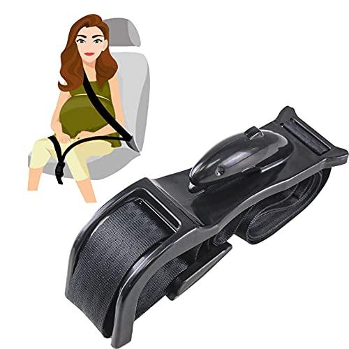 Bump Belt Adjuster,Comfort Free for Expectant Mother,Prevent & Avoid Compression of Abdomen,Black