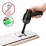 XHIF Keyboard Cleaner USB Cordless Vacuum Cleaner, Powerful Rechargeable Mini Computer Cleaner Vacuum Portable Handheld Vacuum Cleaner for PC, Hairs, Crumbs, Scrap, Pet House,Laptop,Piano and Car