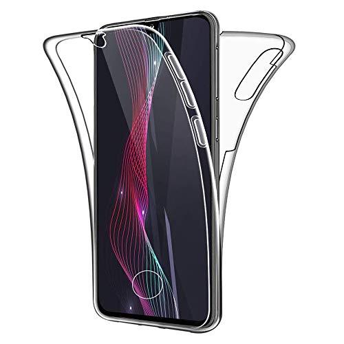 Suhctup Coque Comapatible pour Samsung Galaxy A70,Étui Protection Complète Transparent Silicone TPU Double Face Housse Couverture Case Anti-Rayures Intégral 360 Degrés Crystal Cover