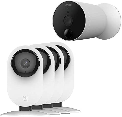 YI 4PC Indoor Security Camera and Wireless Outdoor Surveillance Camera Bundle product image