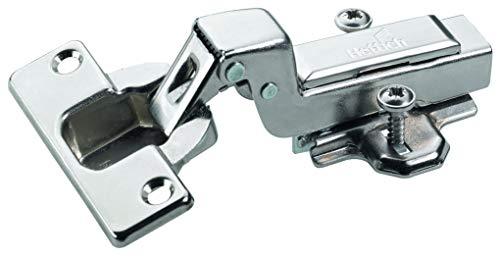 Hettich 9219547 Topfscharnier (Scharnier) Intermat TH42 innenliegend-mit Schließautomatik, Stahl, 6 STK, vernickelt