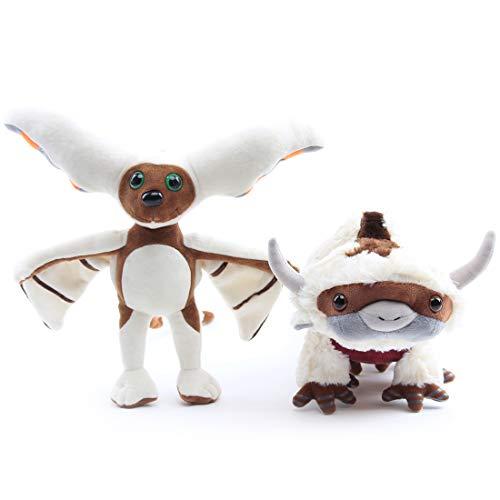 uiuoutoy Appa Plüsch Momo Plüschtiere Stofftier Kissen Puppen Kuh Kuscheltiere Spielzeug Kinder Geschenke 2 Stück / Los (Appa 45cm + Momo)