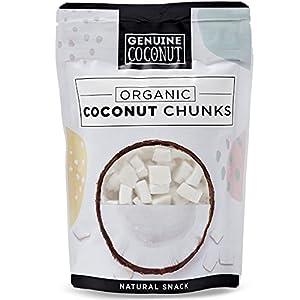 Genuine Coconut Trozos de coco orgánico - 5 Unidades de 100 g