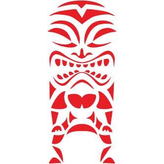 Pegatina Promotion Tiki Figur Maori Typ 2 20 cm Aufkleber Sticker Autoaufkleber Wandtattoo Surf Kite Surfen Wassersport Fun Sea