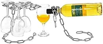 Southern Homewares Wine Glass Stemware Rack & Wine Bottle Holder Set
