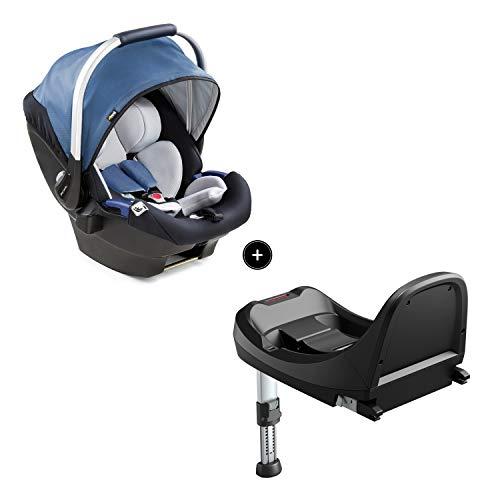 Hauck iPro Baby Set Siège Auto Cosi i-Size + Base ISOFIX de la Naissance à 13 kg, Groupe 0 avec Réducteur de Siège Nouveau Né, Léger - bleu