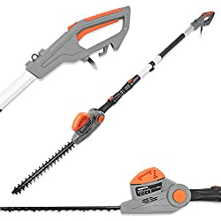 LONG REACH: This fantastic telescopic hedge trimmer is ideal for clipping tall, awkwardly-sited or hard-to-reach hedges and shrubs thanks to the extendable pole providing you with a total extension of 2.75m from handle to head. Also allows you to tri...