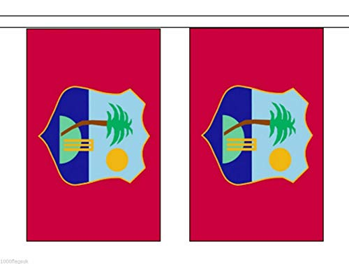 Wereld Vlag Winkel West-Indië 6 Meter Bunting 20 Vlaggen
