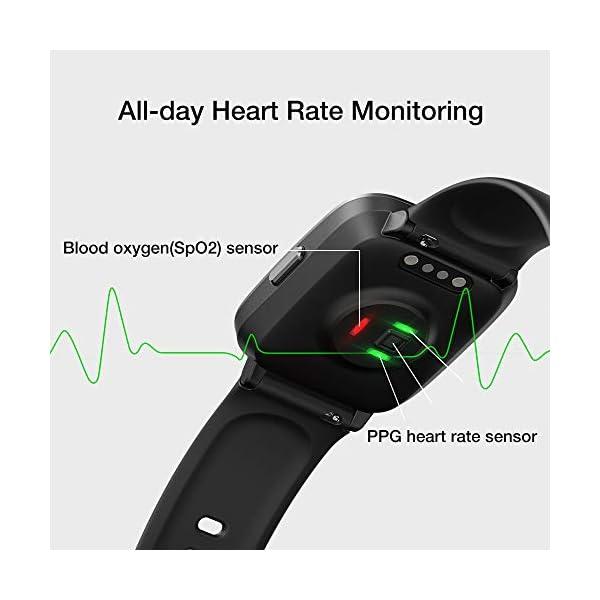 UMIDIGI Reloj Inteligente con Oxímetro (SpO2) Smartwatch con Monitoreo de Frecuencia Cardíaca para Hombre Reloj… 9
