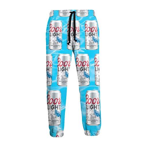 Mens Unisex Coors Light Joggers Sweatpants 3D Print Trousers Drawstring Baggy Jogging Pants with Pockets