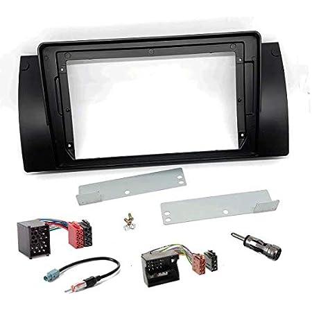 Sound Way 9 Zoll Radio Blende Einbau Rahmen Adapter Einbauset Kompatibel Mit Bmw 5er Series E39 X5 E53 Auto