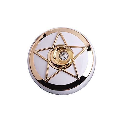 Beito 1 STÜCK Kontaktlinsenbehälter Stern Diamant Design Reise Kontaktlinsenhalter Augenpflege Kit Mit Spiegel Kontaktlinse Aufbewahrungsbox(Golden)