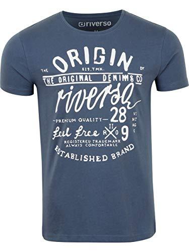 riverso Herren T-Shirt RIVLeon Rundhals O-Neck Kurzarm Tee Shirt Print Regular Fit 100{d5eabb1bf3cb3d125a86a337da7338265aba6099ae53537e6e27630bb5385e2f} Baumwolle Grün Blau Weiß Grau Rot Orange S M L XL 2XL 3XL 4XL 5XL, Größe:3XL, Farbe:Blau (DJD)