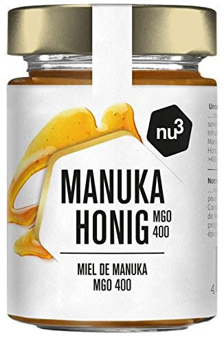 nu3 natürlicher Manuka Honig | MGO 400 | aus Neuseeland, 250g | mit einem Methylglyoxal-Gehalt (MGO) von mindestens 400 mg/kg | schonend kaltgeschleudert | nur natürliche Zutaten