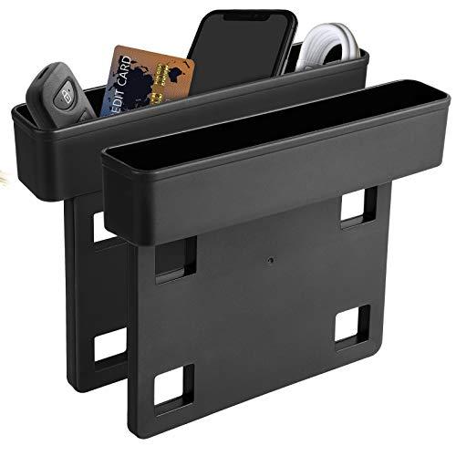 Linkstyle 2 Stück Aufbewahrungsbox für Auto, Autositz Mittelkonsolen Seiten Taschen Lücke Organizer Box für Telefonkarten Schlüssel Brieftasche Münzen Lizenz Sonnenbrille Auto Innenzubehör