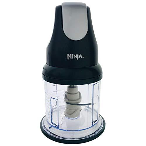 Ninja Express Chopper NJ100 Manual Food Processor 16oz Bowl for Chopping Grinding and Blending Ergonomic Design (Black)