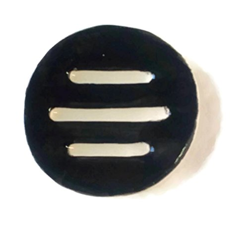 Handmade Round Black Ceramic Soap Dish