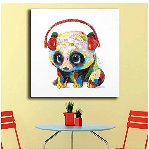 Leinwand Bilder Mode Ölgemälde Panda-Beats Dekoration Paiting Home Decor Auf Moderne Wandkunst Leinwand Druck Poster 70x70cm ohne Rahmen