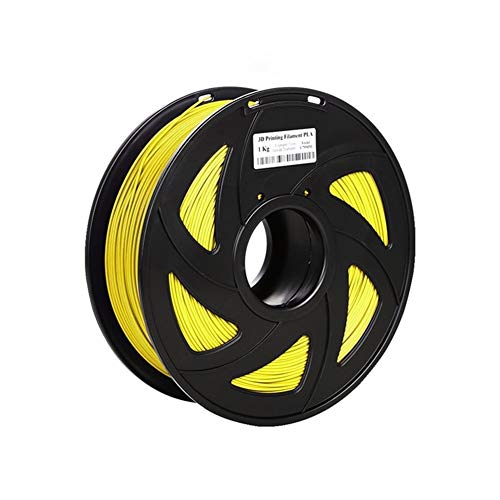 3D Printing PLA 1.75mm Filament Dimensional Accuracy +/-0.02mm 1KG 340M 2.2LBS (Color : Yellow)