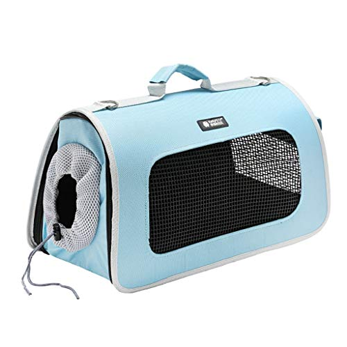 Backpacks & Slings Pet Travel Box Dog Out Backpack Portable Pet Bag Cat Handbag Pet Home Ventilation Cage Multi-function Pet Suitcase Bearing 2-6KG (Color : Blue, Size : 21 * 42 * 25cm)
