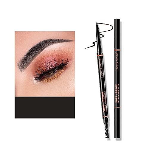 Lápiz de cejas a prueba de agua Maquillaje profesional Lápiz de cejas Maquillaje de larga duración Lápiz de punta fina Relleno de cejas 4 opciones de color (01 # negro)
