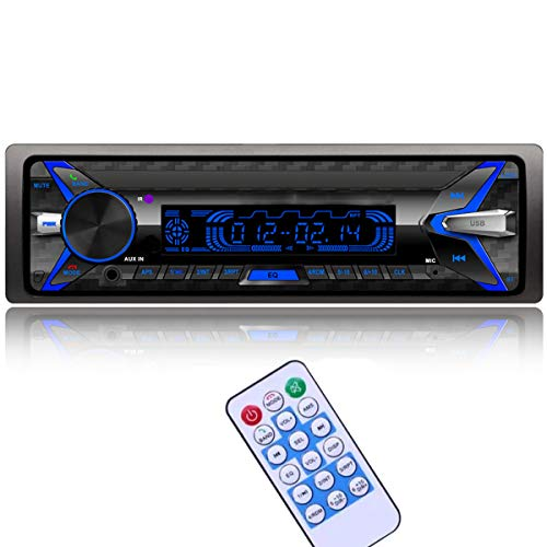 VIGORFLYRUN Autoradio Bluetooth Stereo Lettore MP3 RDS Pannello Frontale Rimovibile Supporta chiamate in Vivavoce e Funzione di Lettura di File Funzione Radio con Spina ISO