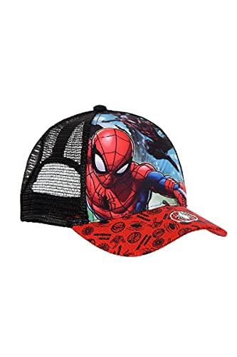 Ryfi Spiderman Gorra Infantil Premium Rejilla Marvel (Negro)