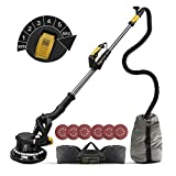 Giraffe Sander, Ginour 750W Giraffe Wall and Ceiling Sander 1800RPM, 7 Adjustable Speeds, Ø 225 mm Sanding Disc, Telescopic Handle 165cm, 6 Glass Papers, LED Light Swivel Head