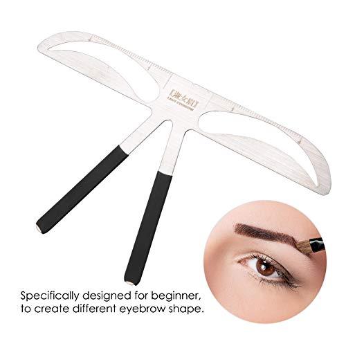 Modèle de bricolage de modèles de sourcil, outil de mesure de modèle de maquillage permanent de règle de sourcil, rapport de positionnement de l'outil en or - 8 types(3)