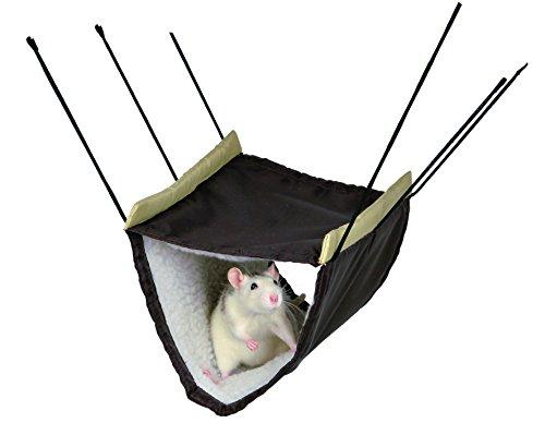 Trixie 62696 Hängematte mit 2 Etagen für Ratten/Degus, 22 × 15 × 30 cm