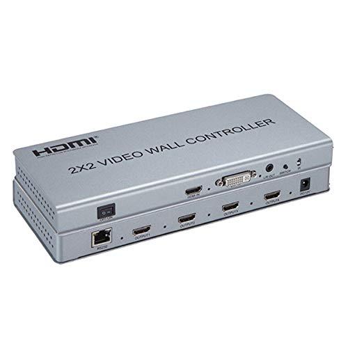 2x2 videowand Controller HDMI/DVI Eing?nge auf 4 HDMI Ausg?nge Video Wall Prozessor Splitter Unterstützung 1X2 2x2 1X4 1080P