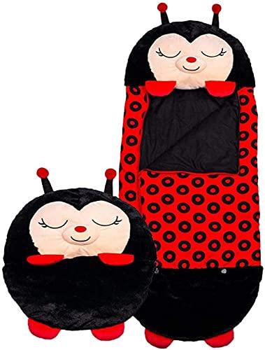 Divertido saco de dormir cómodo saco de dormir de una sola pieza con almohada para niños y niñas acampar viajar al aire libre