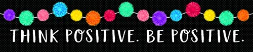 Creative Teaching Press Pom-Poms Welcome Banner (2-sided) Display in Classroom, School Hallway, Church, Daycare, Learning Spaces and More (8670)