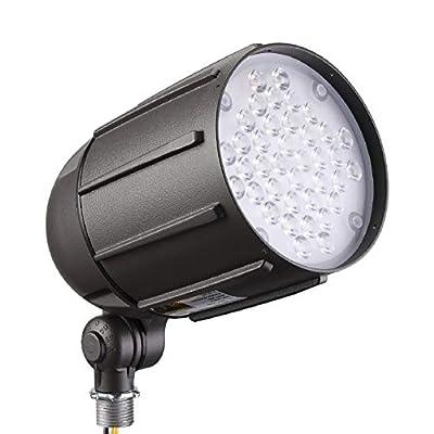 LEONLITE 30W LED Bullet Flood Light for 120 Volt Outdoor Landscape Lighting, 22° Flood Beam, 3870LM, UL Listed, 100-277V Landscape Spotlight, 5000K Daylight