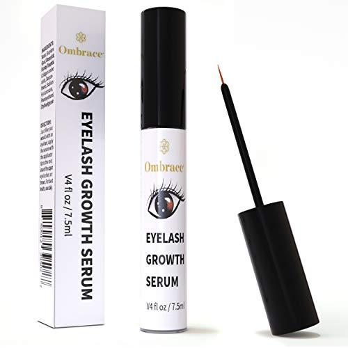 Eyelash Growth Serum - Eyebrow Growth Serum - Irritation Free Formula - Lash & Brow Boost Serum - Enhancer For Longer & Thicker Eyelashes & Eyebrows - [Bonus Size 7.5ml] By Ombrace Eyelash Serum