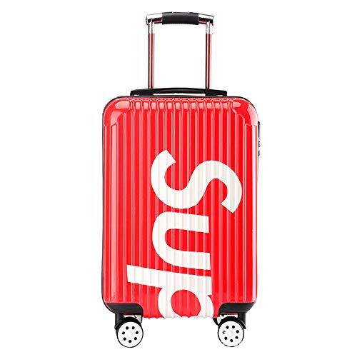 MIRANDA Koffer Trolley Case Passwort Lock Caster Erwachsene Männer und Frauen Boarding Koffer Reisekoffer, rot (Rot) - qwe54
