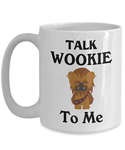N\A Talk Wookie to Me Mug Taza de café de Chewbacca Taza Divertida de té Regalo para Navidad Día del Padre Navidad Aniversario del papá Día de la Madre Papa Heart San