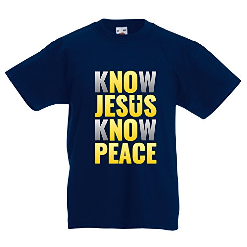 lepni.me T-shirt voor jongens/meisjes, ken je vrede. Jezus redt jullie nog! - Pasen - opstaan - kribbe, Christelijke kleding