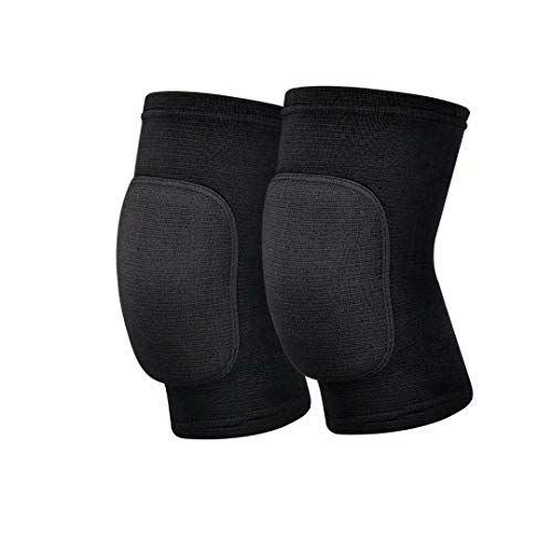JMOKA Non-Slip Knee Brace Soft Knee Pads Breathable Knee Compression Sleeve for Dance Wrestling Volleyball Basketball Running Football Jogging Cycling Arthritis Relief Meniscus Tear for Women Men (M)