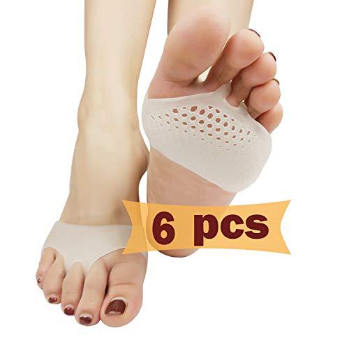 Mittelfuß Pads, Ball von Fuß Kissen (3 Paar), Neues Material, Vorfuß Pads, Vorfuß Gel Polster, für Diabetiker Füße, Hornhaut, Blasen, Vorfuß Schmerzen