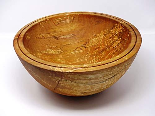 Holzschale rund aus Erlen Holz gestockt - ∅ ca. 29 cm - H: ca. 12,5 cm handgemacht gedrechselt Schale Obstschale