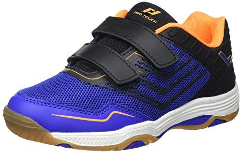 Pro Touch Rebel 3 VLC Volleyball-Schuh, Blue/Black/Orange, 36 EU
