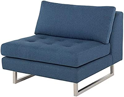 Amazon.com: LILOLA Jules 4 Seater Sofa in Dark Gray Linen ...