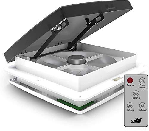 Ventilador de techo para caravana, ventilación de aire para caravana con sensor de lluvia, extractor automático de 12 V para autocaravana, tamaño de apertura del techo: 310 * 310 mm