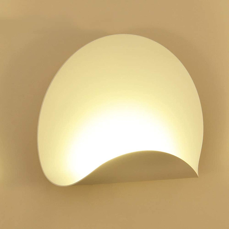 Wandlampe Einfache Bedside LED Creative Room Bedroom Aisle Wrought Iron Wall Lights,Warm,225x300mm