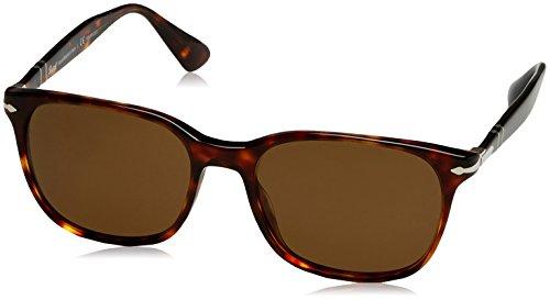 Persol Man Sunglasses, Tortoise Lenses Acetate Frame, 56mm